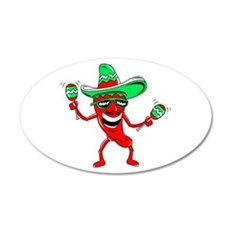 Pepper maracas sombrero sunglasses Wall Decal