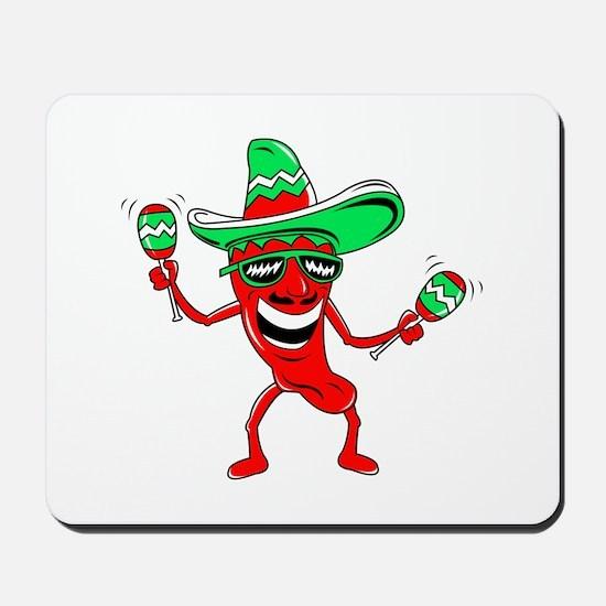 Pepper maracas sombrero sunglasses Mousepad