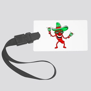 Pepper maracas sombrero sunglasses Luggage Tag