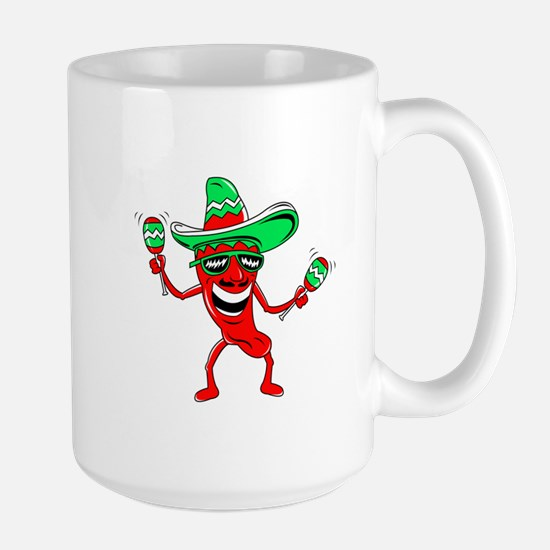 Pepper maracas sombrero sunglasses Mug