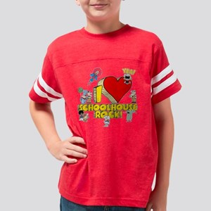 I Heart Schoolhouse Rock! Youth Football Shirt