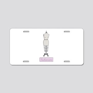Fashionista Aluminum License Plate