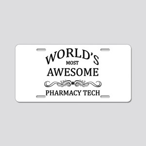 World's Most Awesome Pharmacy Tech Aluminum Licens