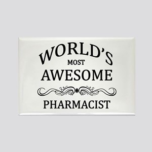 World's Most Awesome Pharmacist Rectangle Magnet