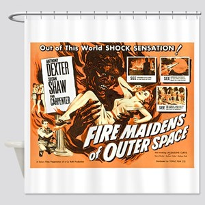 FIRE MAIDENS OF OUTER SPACE Shower Curtain