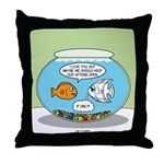 Fishbowl Relationships Throw Pillow