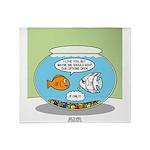 Fishbowl Relationships Throw Blanket