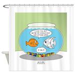 Fishbowl Relationships Shower Curtain