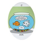 Fishbowl Relationships Ornament (Oval)