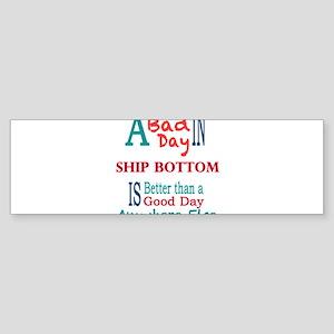Ship Bottom Bumper Sticker