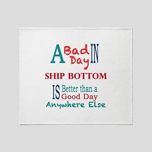 Ship Bottom Throw Blanket