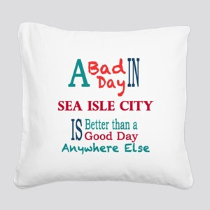 Sea Isle City Square Canvas Pillow