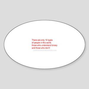 Binary People Oval Sticker