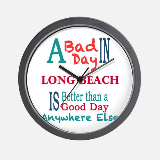Long Beach Wall Clock