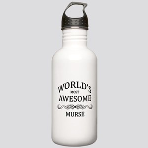 World's Most Awesome Murse Stainless Water Bottle