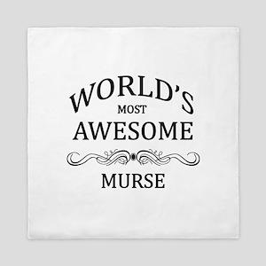 World's Most Awesome Murse Queen Duvet