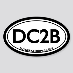 Future Chiropractor (DC2B) Oval Sticker