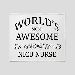 World's Most Awesome NICU Nurse Throw Blanket