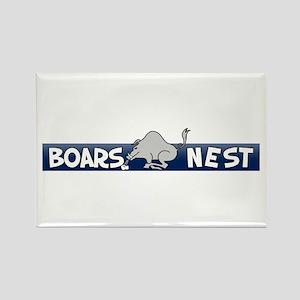 Boars Nest Rectangle Magnet