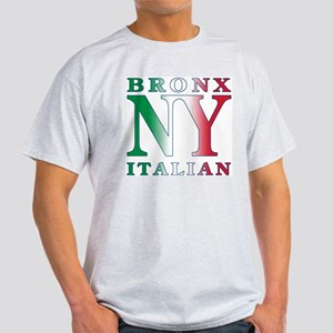 Bronx New York Italian Ash Grey T-Shirt