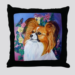 Papillon Dog Lovely Throw Pillow