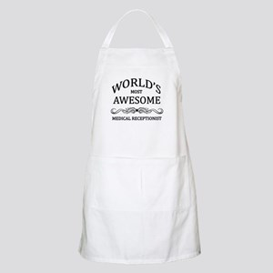 World's Most Awesome Medical Receptionist Apron
