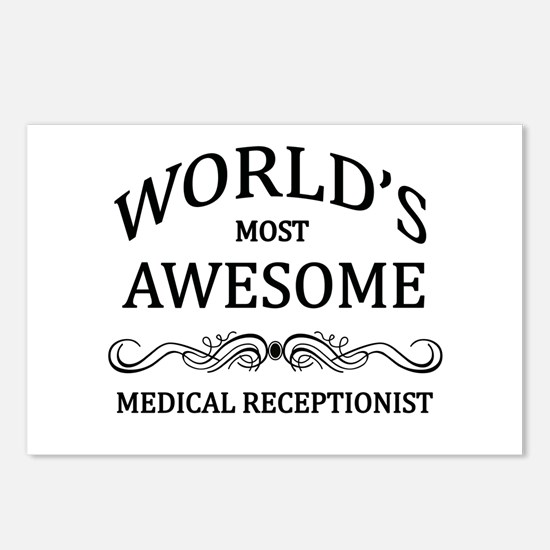 World's Most Awesome Medical Receptionist Postcard