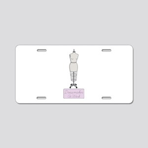 Dressmaker At Work Aluminum License Plate
