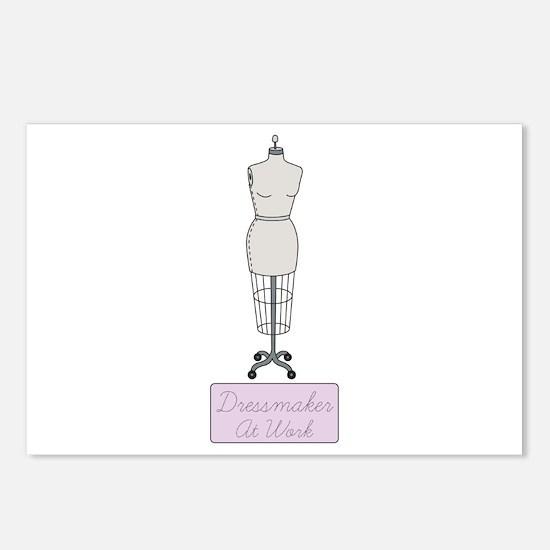 Dressmaker At Work Postcards (Package of 8)