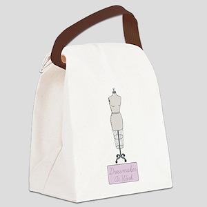 Dressmaker At Work Canvas Lunch Bag
