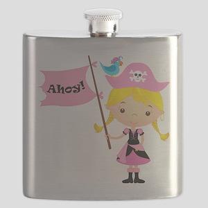 Pink Pirate Girl Flask