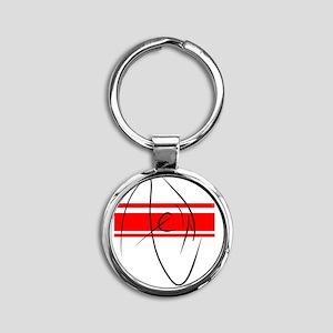 New Round Keychain