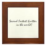 second fastest knitter in the Framed Tile