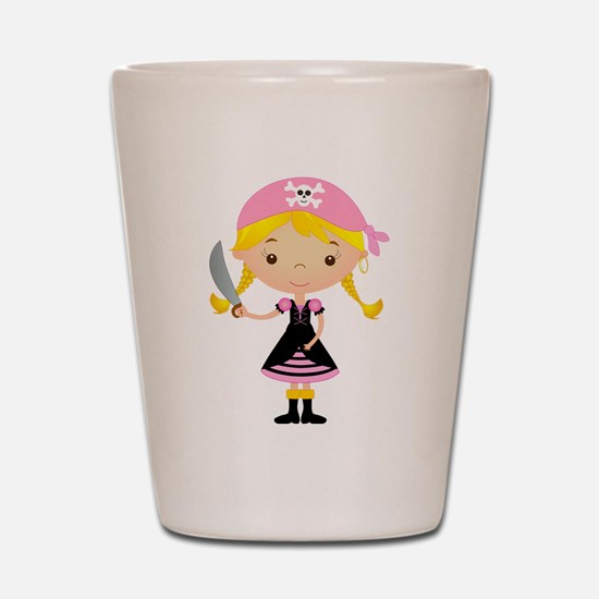 Pirate Girl w/ Sword Shot Glass