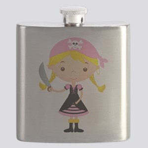 Pirate Girl w/ Sword Flask