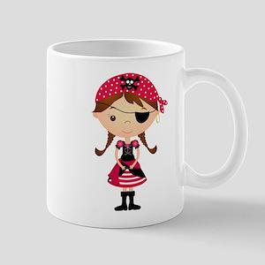 Pirate Girl in Red Mug