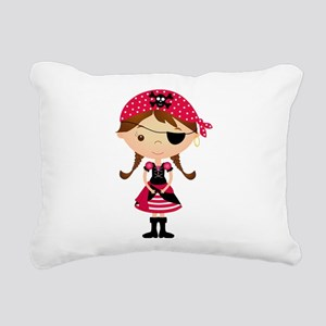Pirate Girl in Red Rectangular Canvas Pillow