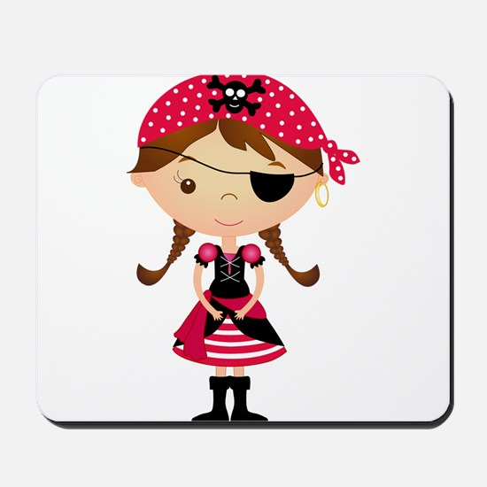 Pirate Girl in Red Mousepad