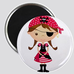 Pirate Girl in Red Magnet