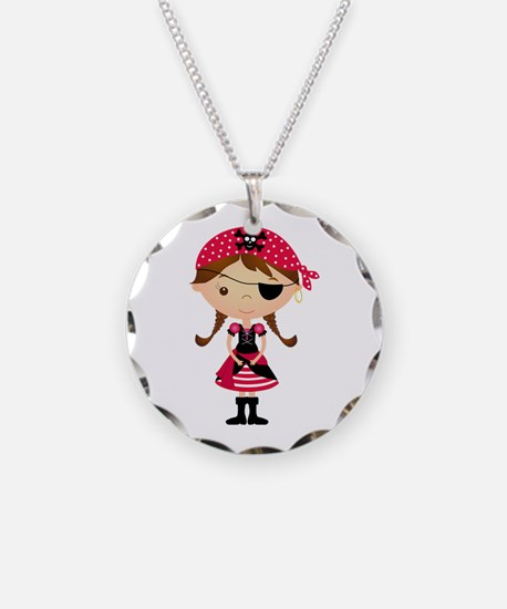 Pirate Girl in Red Necklace