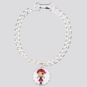 Pirate Girl in Red Charm Bracelet, One Charm