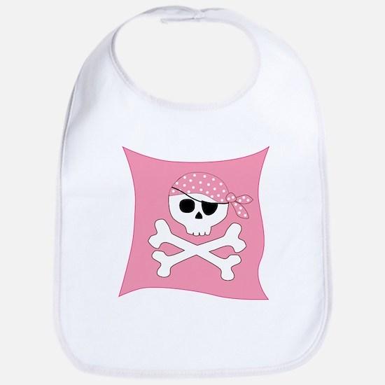 Pink Skull & Crossbones Pirate Flag Bib