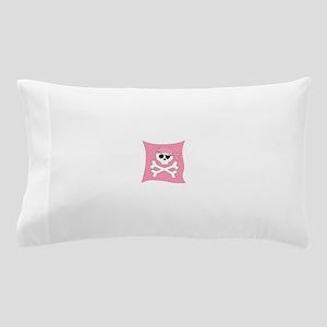 Pink Skull & Crossbones Pirate Flag Pillow Case