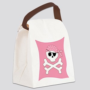 Pink Skull & Crossbones Pirate Flag Canvas Lunch B