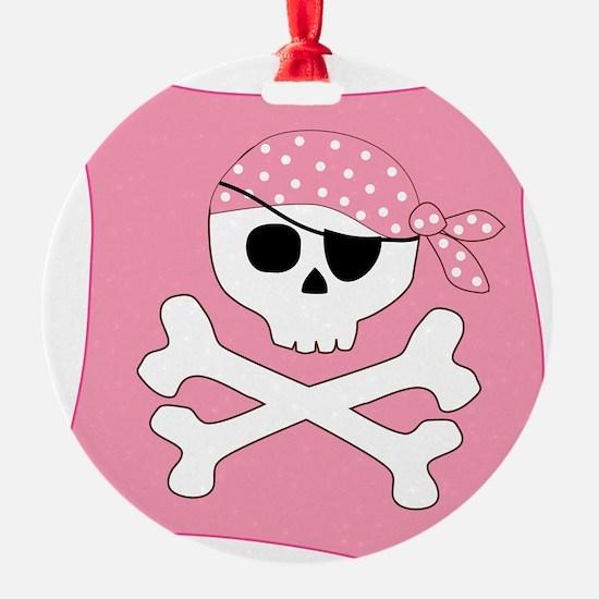 Pink Skull & Crossbones Pirate Flag Ornament