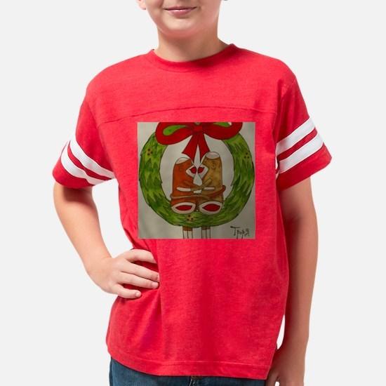 xmas sock monkey 07 Youth Football Shirt