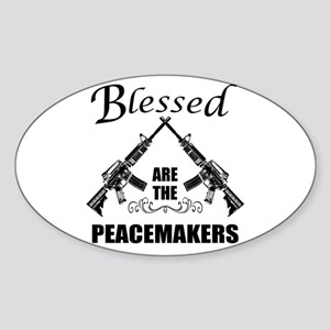 Blessed Are The Peacemakers AR's Sticker (Oval)