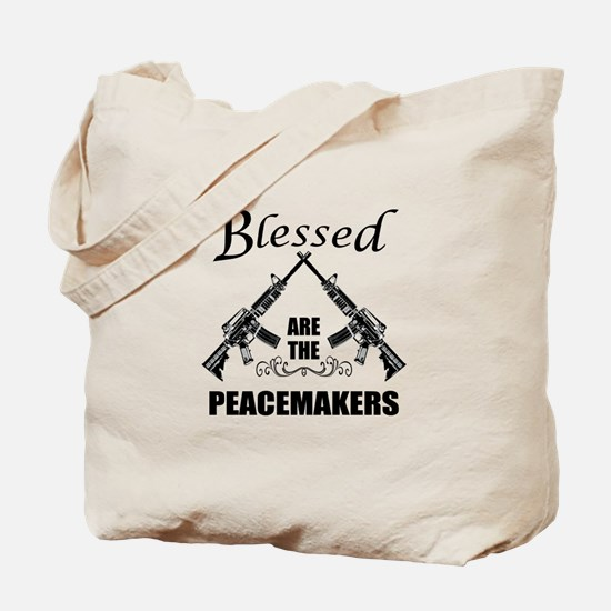 Blessed Are The Peacemakers AR's Tote Bag