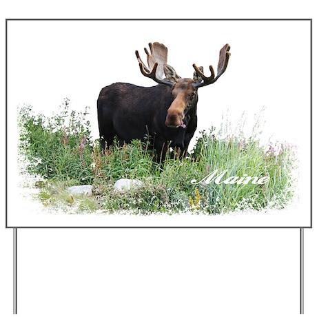 Maine Moose Yard Sign