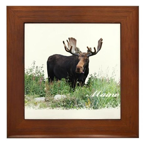 Maine_Moose_Framed_Tile_300x300?height=300&width=300&qv=90&side=front maine moose wall art cafepress